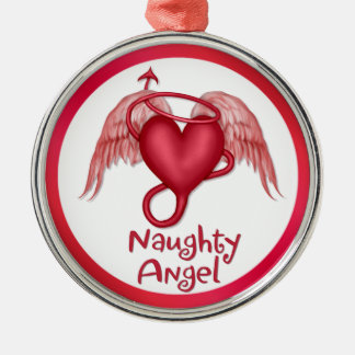Naughty Angel Metal Ornament