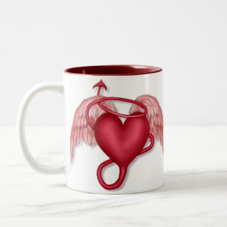 Naughty Angel Two-Tone Coffee Mug