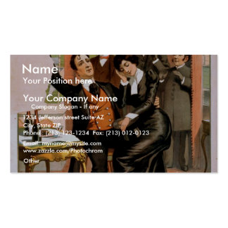 Naughty Anthony, 'A lesson in Moral culture' Business Card Templates