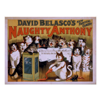 NAUGHTY ANTHONY Farcical Comedy VAUDEVILLE Poster