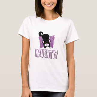 Naughty Black Kitten T-Shirt