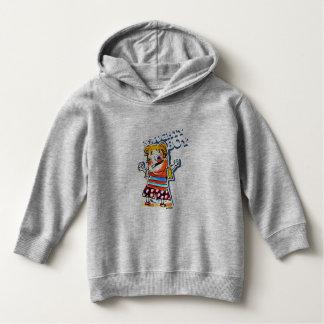 naughty boy cartoon style illustration hoodie