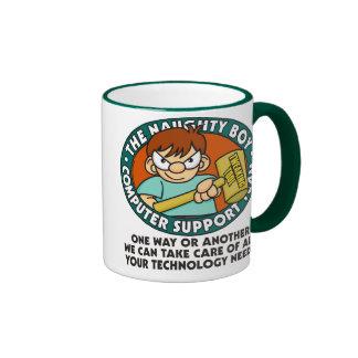 Naughty Boy Computer Tech Mug