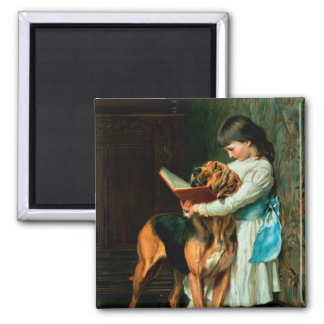 Naughty Boy or Compulsory Education 2 Inch Square Magnet