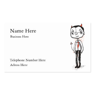 Naughty Businessman card Double-Sided Standard Business Cards (Pack Of 100)
