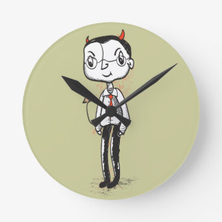 Naughty Businessman Round Clock