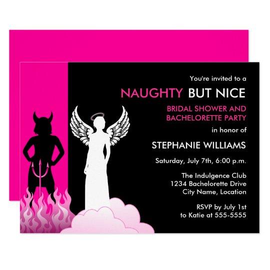 naughty but nice bachelorette party invitation zazzle com