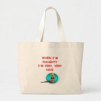 naughty but nice tote bag