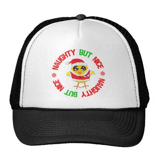 Naughty But Nice Christmas Chick Trucker Hat