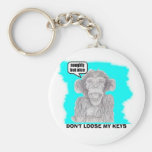 NAUGHTY BUT  NICE, DON'T LOOSE MY KEYS BASIC ROUND BUTTON KEYCHAIN