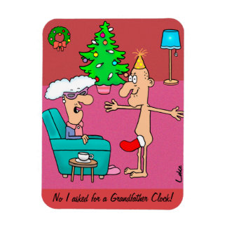 Naughty but nice Grandfather risqué Christmas Magnet