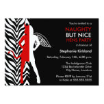 Naughty But Nice Hens Party / Bachelorette Party 5x7 Paper Invitation Card