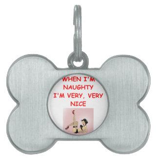 naughty but nice pet name tags