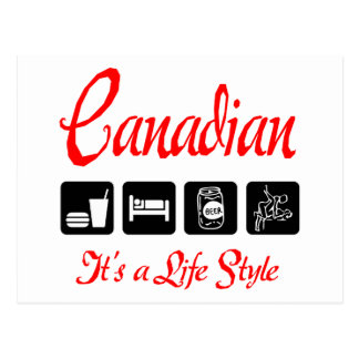 Naughty Canadian Gift Postcard