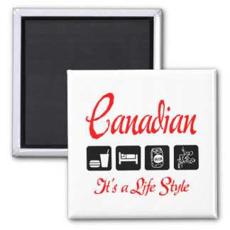 Naughty Canadian 2 Inch Square Magnet