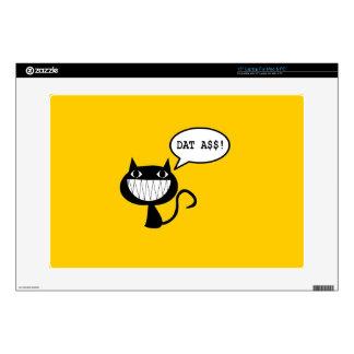 """Naughty Cat 15"""" Laptop Skin"""