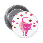 Naughty Cat 2 Inch Round Button