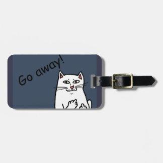 Naughty Cat Bag Tag