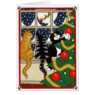 NAUGHTY CAT CARDS