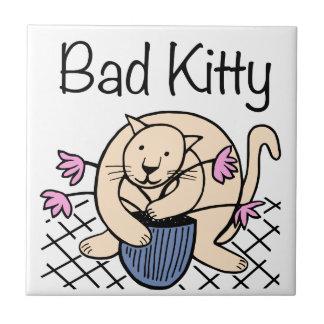 Naughty Cat Cartoon Ceramic Tile