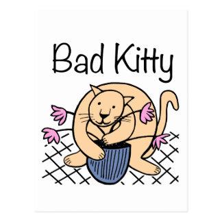 Naughty Cat Cartoon Postcard