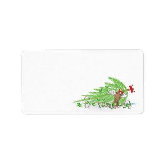 Naughty Cat Christmas Envelope Labels Custom Address Labels
