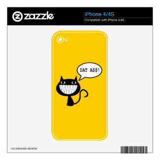 Naughty Cat iPhone 4 Decals
