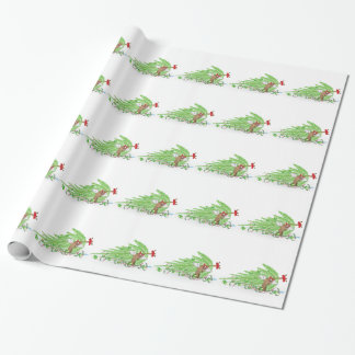 Naughty Cat Knocked Over Christmas Tree Gift Wrap