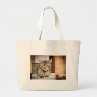 Naughty Cat Large Tote Bag