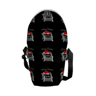 Naughty Cat Merry Christmas Courier Bag
