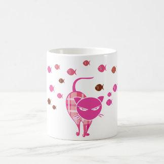 Naughty Cat Classic White Coffee Mug