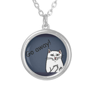 Naughty Cat Silver Plated Necklace
