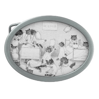Naughty Cats in the Dormitory Belt Buckle