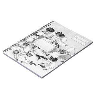 Naughty Cats in the Dormitory Notebook