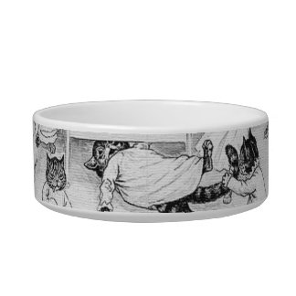 Naughty Cats in the Dormitory Pet Water Bowl