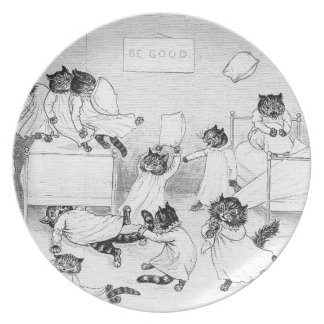 Naughty Cats in the Dormitory Plates
