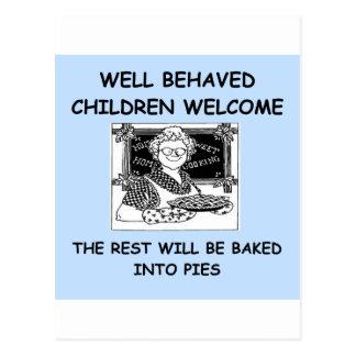 naughty children postcard