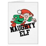 Naughty Christmas Elf Greeting Card