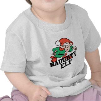 Naughty Christmas Elf Tee Shirt