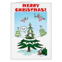 Naughty Christmas Elves Card