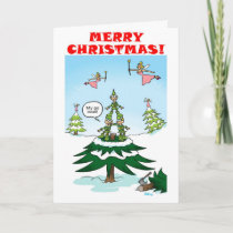 Naughty Christmas Elves Holiday Card