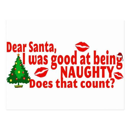 Naughty christmas postcard zazzle