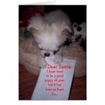 Naughty Christmas Puppy Card