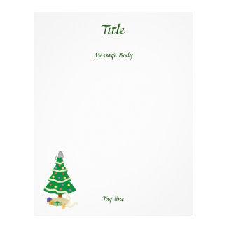 Naughty Christmas Tree Kitty Cat Flyer