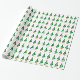 Naughty Christmas Tree Kitty Cat Gift Wrap Paper