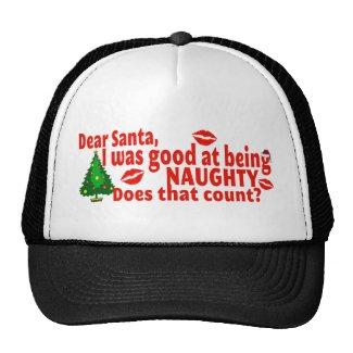 Naughty Christmas Trucker Hat