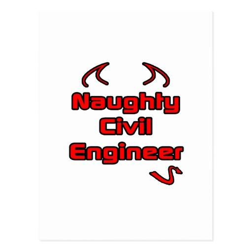 Naughty Civil Engineer Postcard