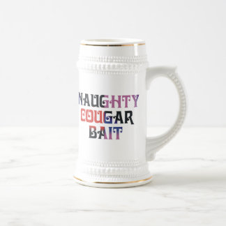 Naughty Cougar Bait Beer Stein