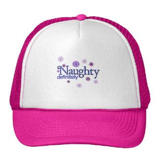 Naughty Definitely Christmas Hats