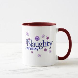 Naughty Definitely Christmas Mug